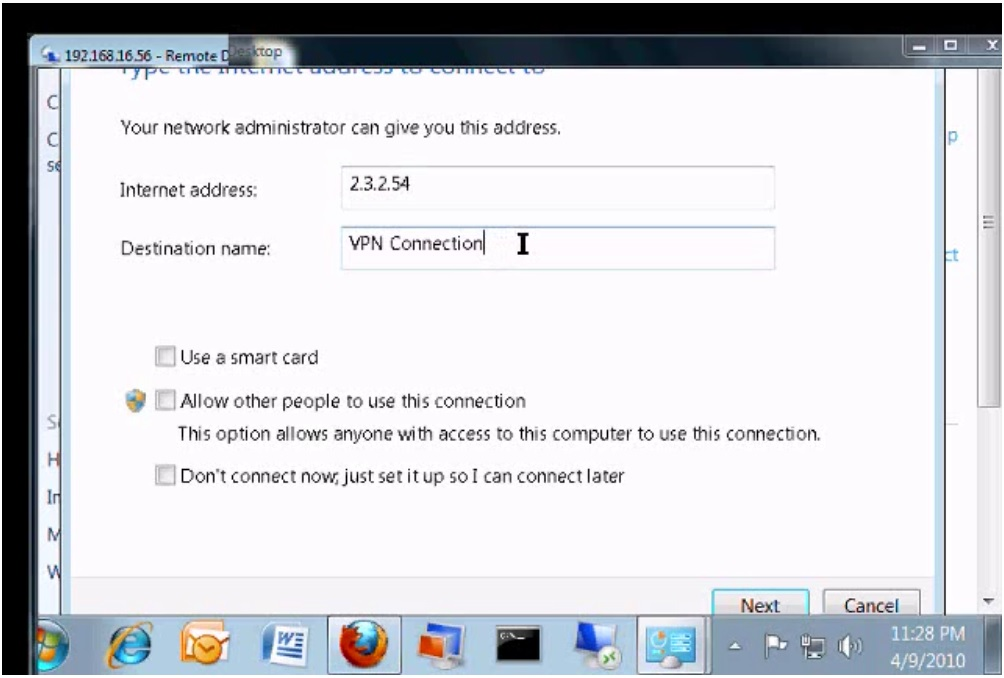 Connection in Windows 7 [Video]